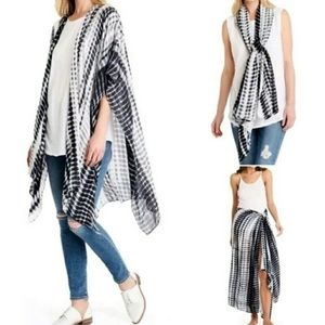 Michael Stars Ruana Scarf Sarong Cover Up Wrap